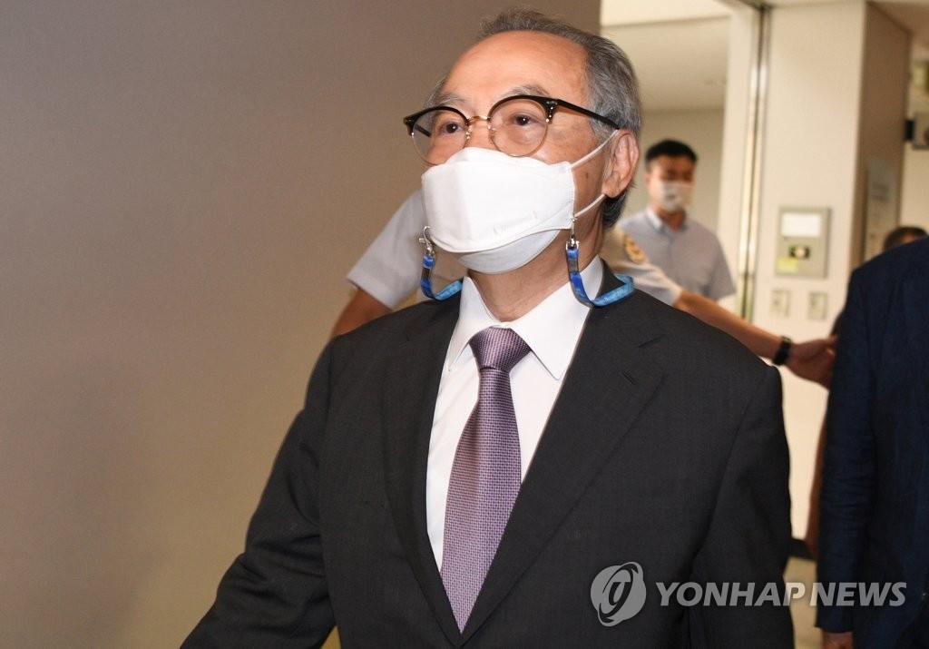 資料圖片:吳巨敦出庭受審。 韓聯社