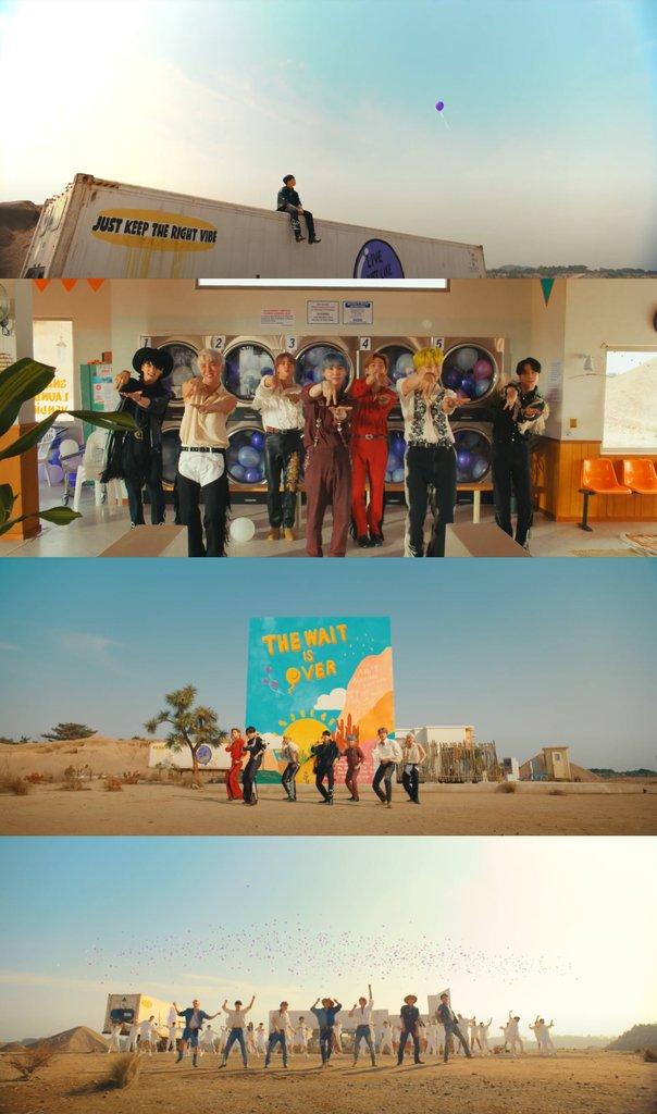 防彈少年團《Permission to Dance》MV截圖 韓聯社/BIGHIT MUSIC供圖(圖片嚴禁轉載複製)