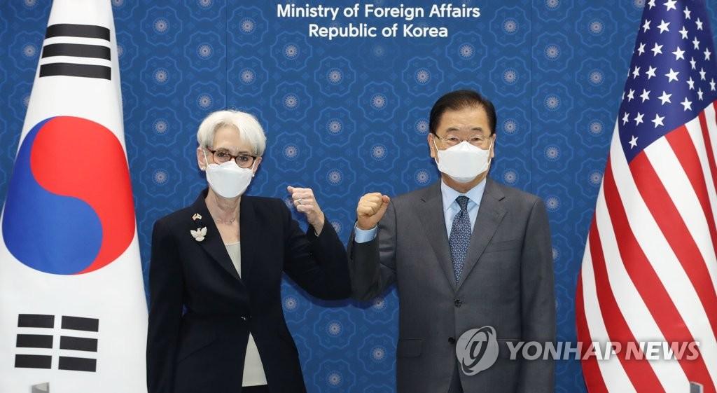 詳訊:韓外長鄭義溶在首爾會見美副國務卿謝爾曼