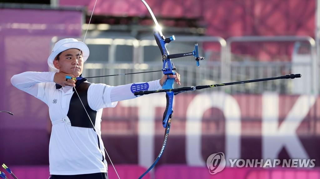 南韓射箭隊挺進東奧男子團體準決賽