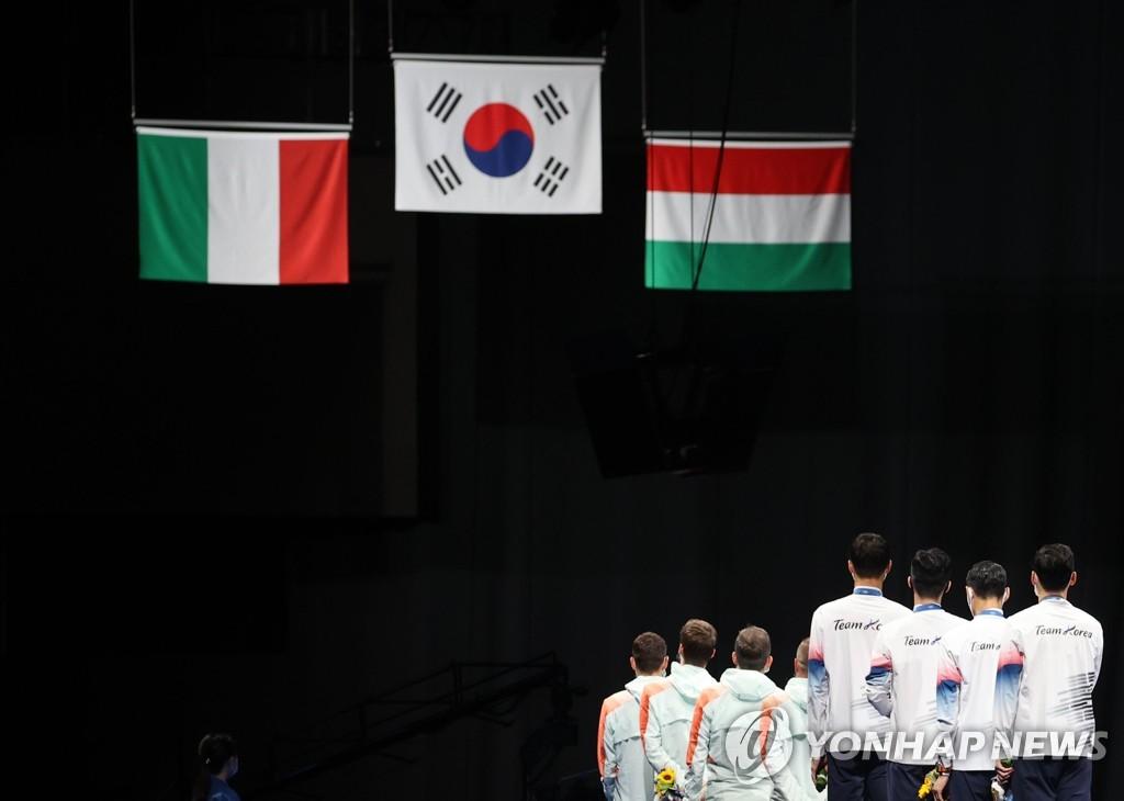 東京奧運南韓28日綜合:佩劍男團摘金 男足挺進八強
