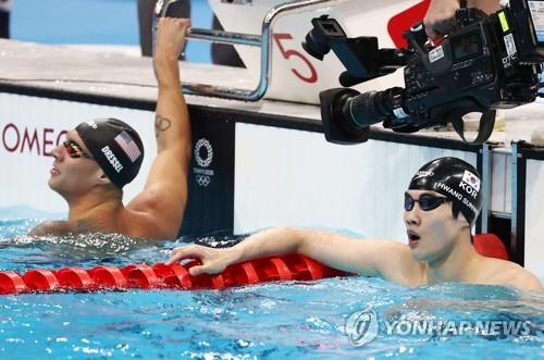 詳訊:韓選手黃宣優在東奧100米自由泳決賽排名第五