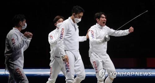 韓重劍男隊衝擊獎牌