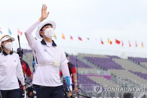 韓選手安山在東奧射箭女子個人賽保銀爭金