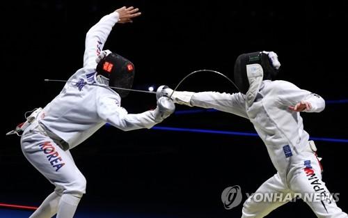韓日重劍男隊激烈交鋒