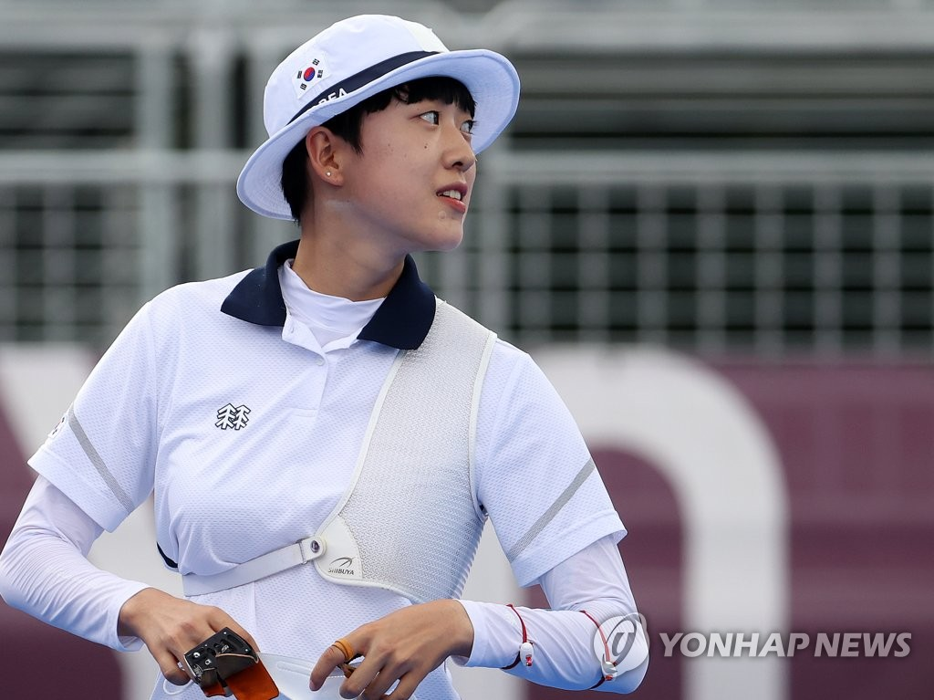 簡訊:韓選手安山東奧女子射箭摘金榮膺三冠王