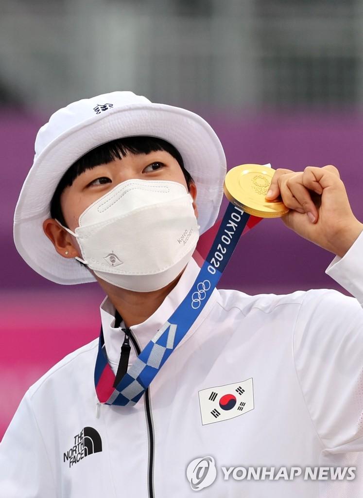 重壓下南韓射箭小將安山奪三金創造歷史