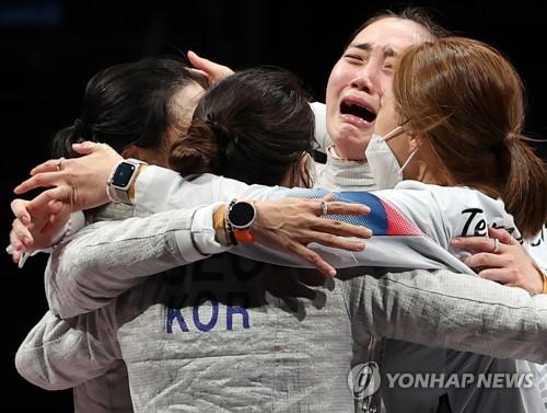 南韓女子佩劍團體東京奧運摘銅書寫歷史