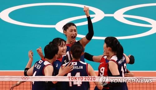 南韓女排戰勝日本隊確定東奧小組出線