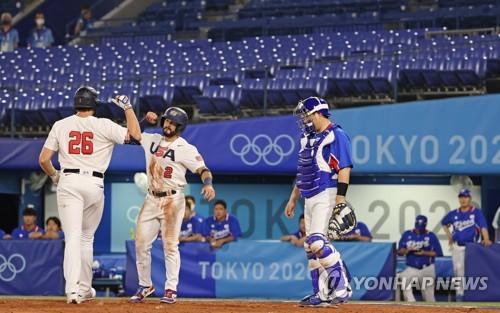 南韓棒球奧運小組賽負於美國晉級淘汰賽