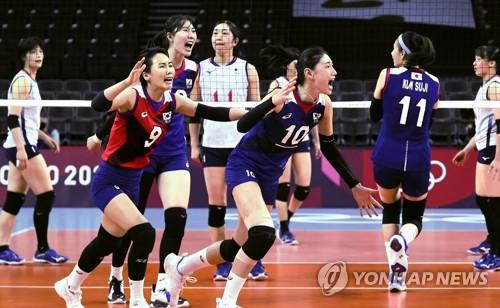 南韓女排晉級東奧八強