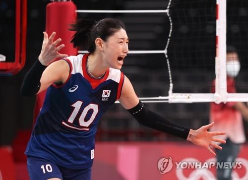 南韓女排名將金軟景:沒料到能闖入四強
