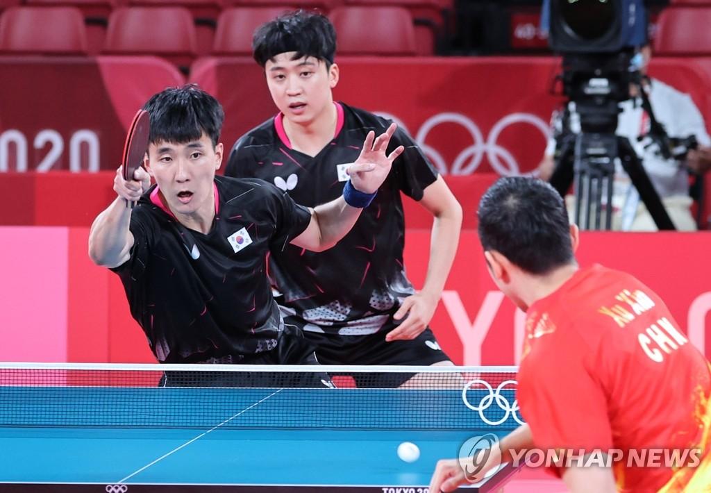 韓中乒乓對決