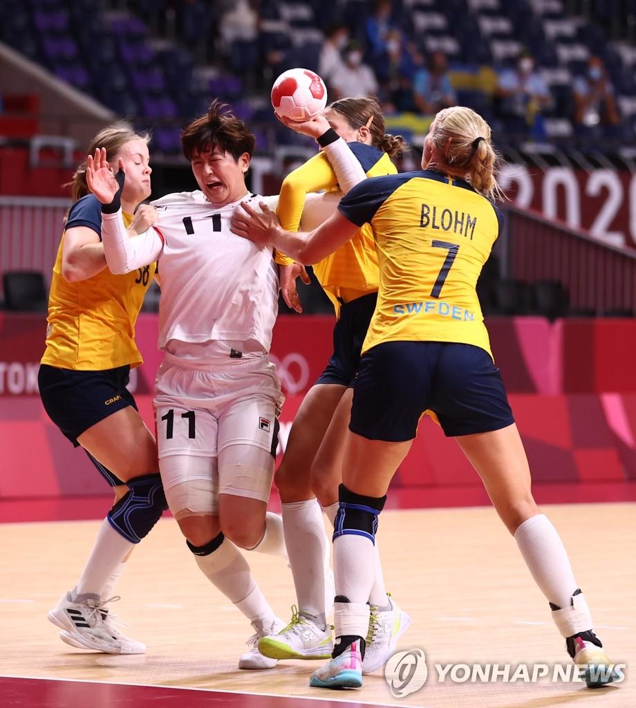 南韓女子手球止步東奧八強不敵瑞典