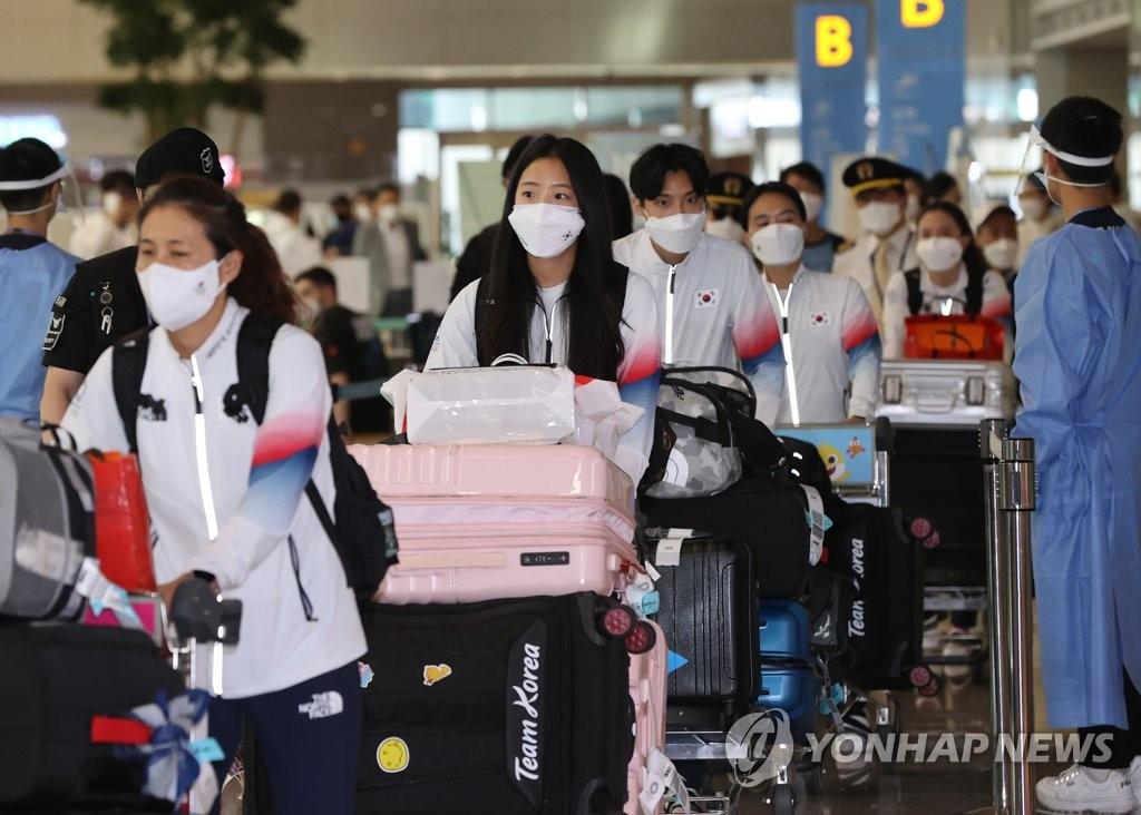 韓女乒隊回國