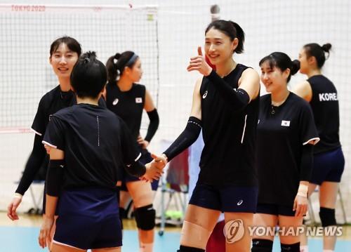 南韓女排備戰