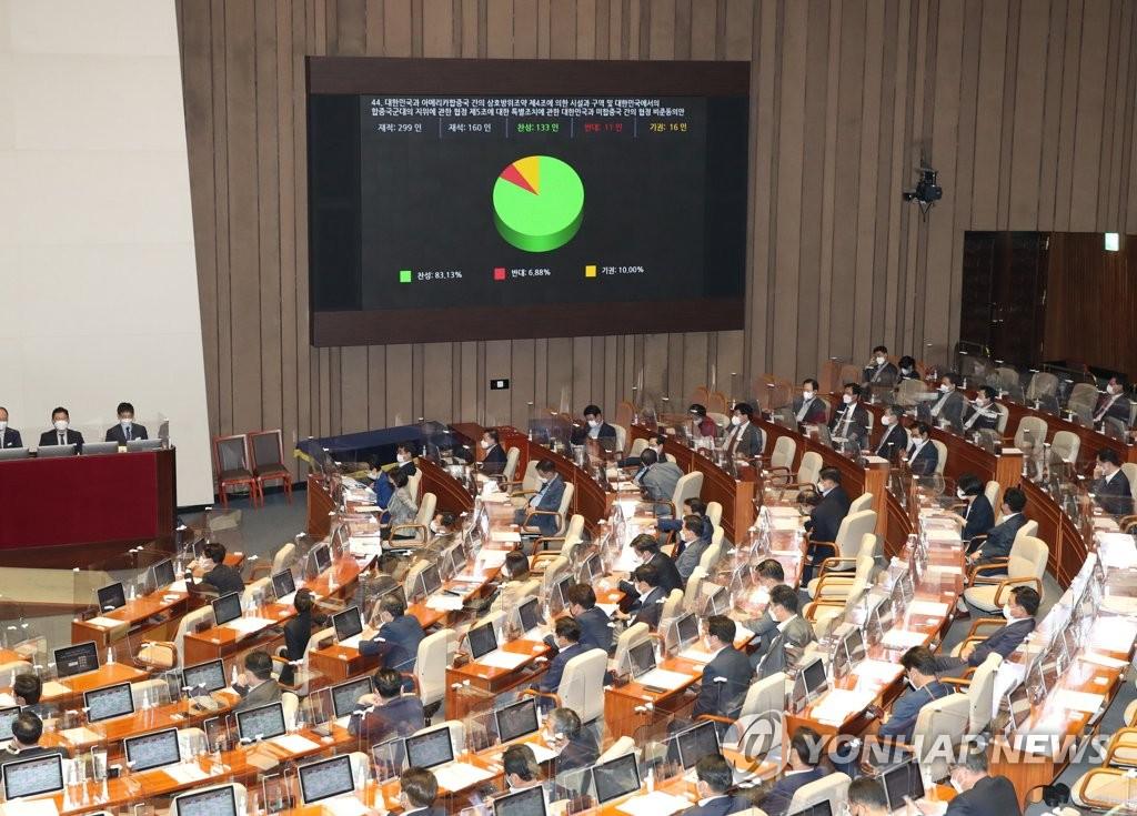 韓美第11份防衛費分擔特別協定正式生效