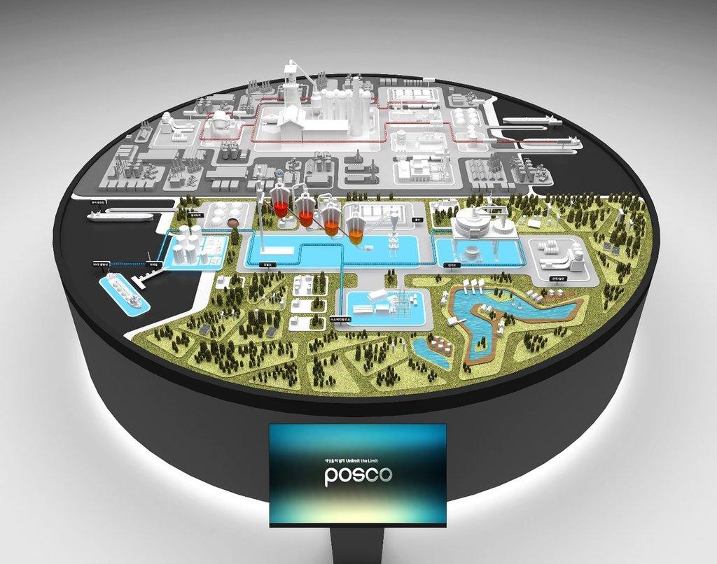 資料圖片:POSCO集團氫還原煉鐵技術概念圖 POSCO集團供圖(圖片嚴禁轉載複製)