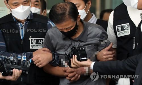 韓破壞腳鐐殺人案嫌疑人被送檢
