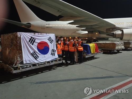 南韓從羅馬尼亞所獲新冠疫苗全部到貨