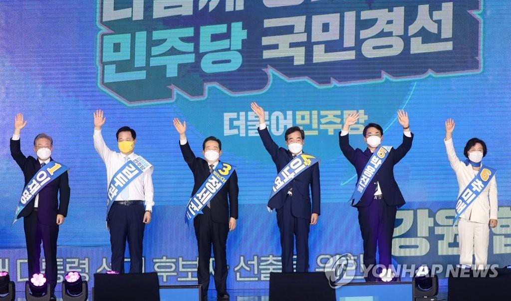 韓執政黨大選黨內初選李在明連續4地獲勝