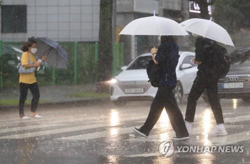 濟州道出現強降雨