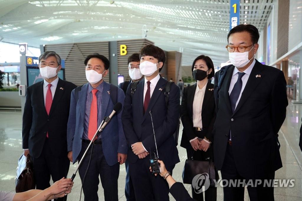 南韓最大在野黨組團訪美