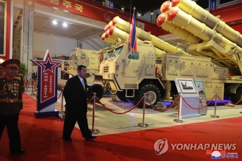 金正恩出席國防展會