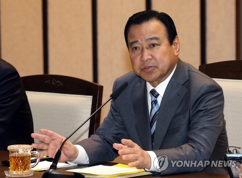 資料圖片:南韓前國務總理李完九 韓聯社