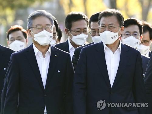 文在寅明會見執政黨總統候選人李在明