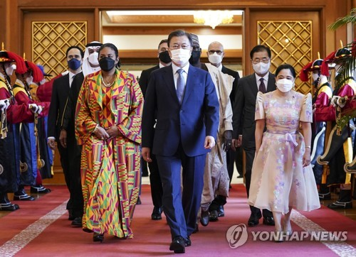 文在寅與新任駐韓大使