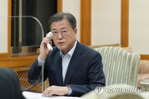 韓日領導人通話
