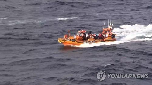 韓海警連續兩天搜尋中國沉船失蹤者無果