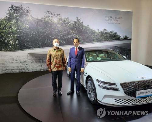 印尼總統和現代汽車鄭義宣