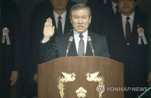 韓已故前總統盧泰愚生前照